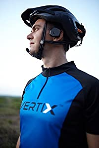 Vertix Velo Cycling Intercom (2 units) with Wireless Remote Control and Wireless Bluetooth Road Bike Headphones