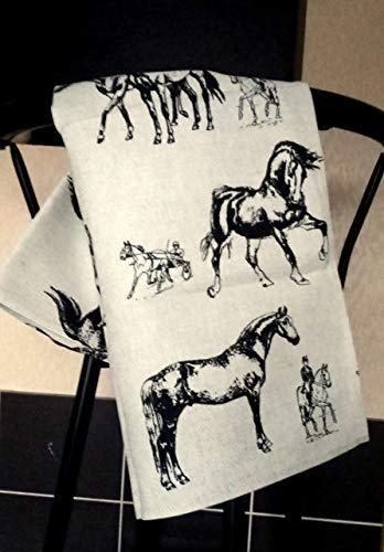 Linen Cotton Dish Towels Horse Tea Towels