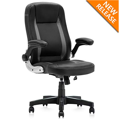 YAMASORO Racing Style Gaming Chair High-Back Executive Office Chair Breathable, Adjustable Computer Chair with Flip-Up Arms Black