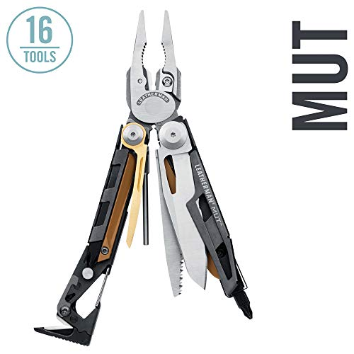 LEATHERMAN - MUT Multitool with Premium Replaceable Wire Cutters and Firearm Tools, Stainless Steel with MOLLE Black Sheath (FFP)