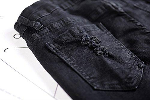 bleu Bleu Femme Noir ICEGREY Jeans qUF88