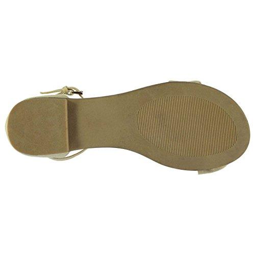 Miso Mujer Knotbow Sandalias Zapatos Deporte Entrenar Casual Verano Desnudo Rosa1 4 (37)