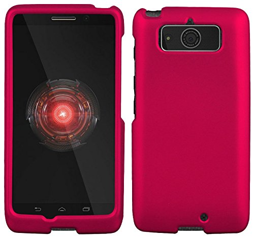 Motorola Droid Mini XT1030 Case - Pink Rubber Feel coated Hard Snap-On Cover (Verizon)