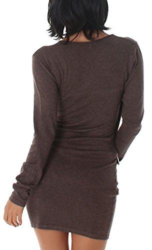 Enzoria - Vestido - para mujer Light Brown