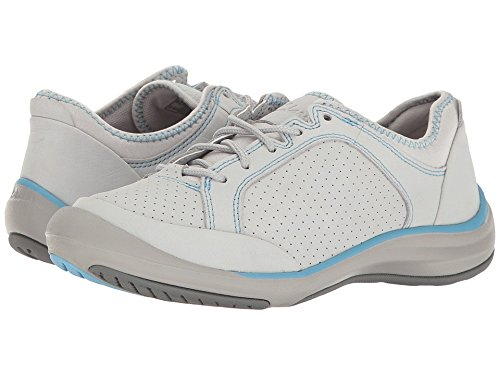 Clarks Women's Asney Lace Up Sneaker,Light Grey Nubuck,US 8 M - Jiffy Hook