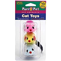 Penn Plax CAT537 3-Pack Felt Mice Cat Toy