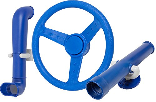Swing Set Stuff Periscope Telescope Steering Wheel (Blue) with SSS Logo Sticker (Wooden Swing Sets For Sale)