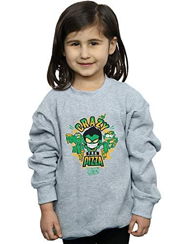 Per Go Sweat shirt Teen Pizza Titans Gris Dc Crazy Comics Sport Fille 8wzYIqWxpS