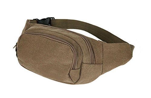 Khaki Mens Military Cycling Waist Fanny Pack Bum Belt Bag Pouch Travel Hip Purse New from Unknown