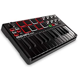 Akai Professional MPK Mini MKII | 25 Key USB MIDI Keyboard Controller With 8 Drum Pads and Pro Software Suite Included…