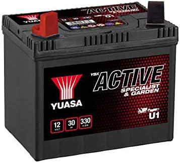 Batterie motoculture yuasa u1 12v 30ah 270a: : Auto