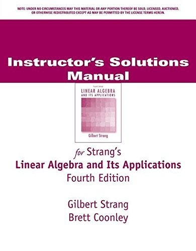 Linear Algebra & Its Applications by Gilbert Strang (1998-07-30)