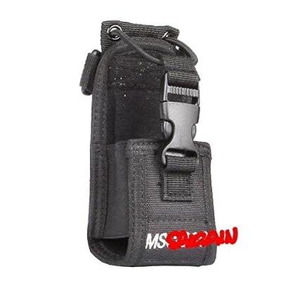 Saigain Nylon Radio Case Holder for Kenwood/Yaesu/Icom MotorolaGP338+/344/328/ Baofeng BF-666S/777S/888S, Black by Saigain