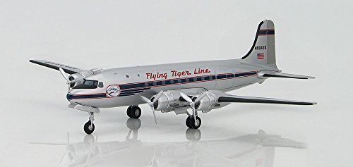 C-54A Skymaster 1/200 Die Cast Model, N90433, Flying Tiger Line, 1955, by Hobby Master by Airliners ()