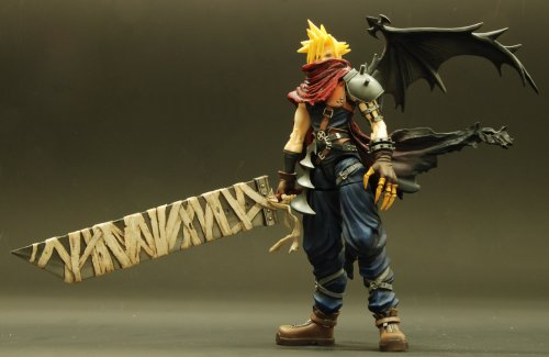 41iUgvD134L - Kingdom Hearts Play Arts Vol. 2 Action Figure - Cloud Strife Coliseum Ver.