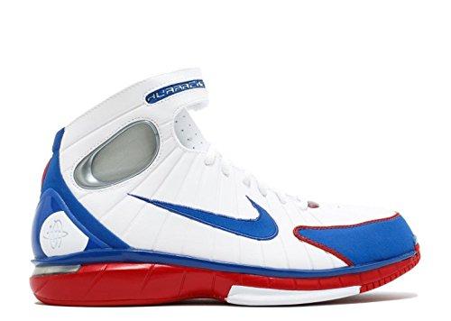 (Nike Men's Air Zoom Huarache 2K4 White/Red/Metalic Silver 308475-100 (SIZE: 11.5))