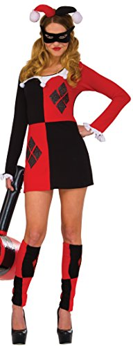 Rubie's Women's Dress, Harley Quinn, (Harley From Batman Costumes)