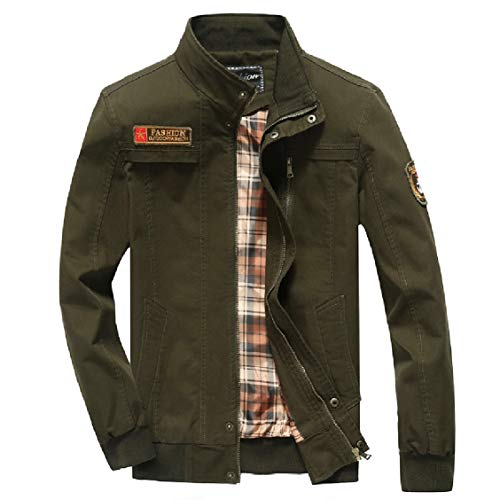 Thicken Bomber Green Comfort Washed Zip EnergyMen Warm Casual Jacket Coat Army pwqS644B