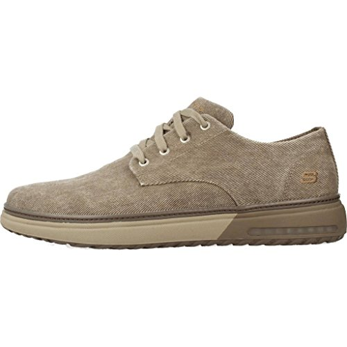 Skechers Mens Folten Brisor Canvas Cushioned Casual Oxford Shoes marrón