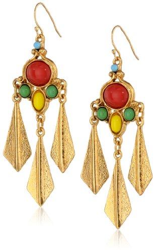 Ben-Amun Jewelry Bombay Fan Multi-Stone Earrings