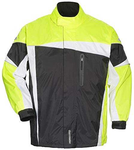 Tourmaster Defender 2.0 Two-Piece Rain Suit (Large) (Black/HI-VIS)