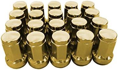 閉じ品質の良い合金鉄ラックホイルナット(7 sides) 33mm M12 * 1.25ゴールデン