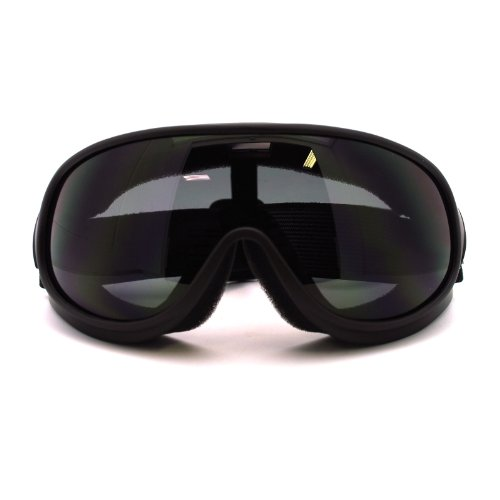 2013 Snowboard Goggles - New Retro Cafe Racer Style Narrow Shatter Proof Anti Fog Lens Goggle Matte Black