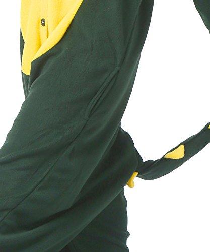 Kigurumi adulti Green Tutine Crocodile Animal per Pigiama unisex PI50qxv0n