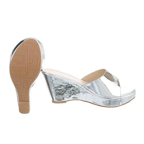 Ital-Design - zapatillas de baile (jazz y contemporáneo) Mujer Silber XF87-R