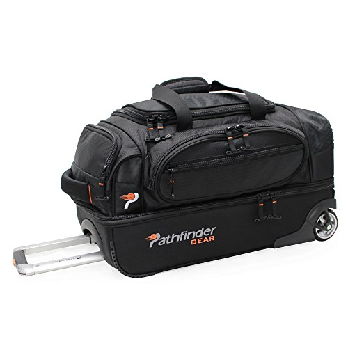 Pathfinder Gear 22 Inch Rolling Drop Bottom Duffel, Black, One Size