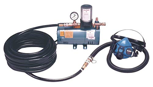(Allegro Supplied Air Pump Package, 1/4 HP, People Served: 1, Headgear Included: Half Mask Respirator - 9205-01)