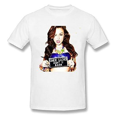 Men's Cher Lloyd Seventh Season British idol fourth T-shirt-White