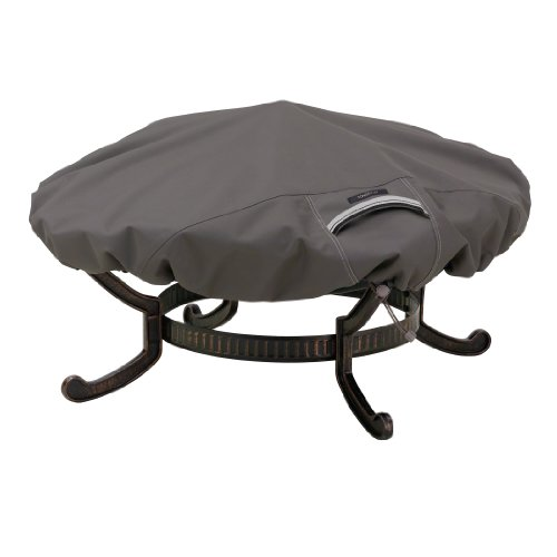 Classic Accessories Ravenna Round Fire Pit Cover - Premium Outdoor Cover with Durable and Water Resistant Fabric, Small (55-147-015101-EC)