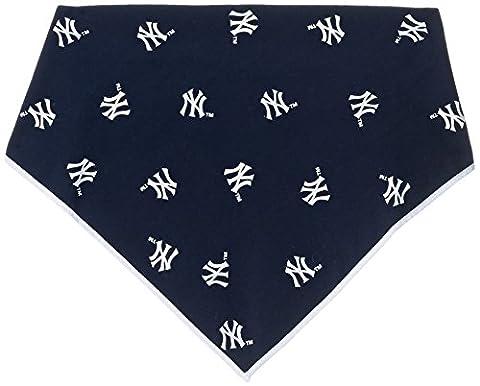 Sporty K9 MLB New York Yankees Dog Bandana, Large - New York Yankees Fabric