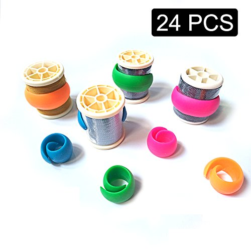 24 Pcs Peels Thread Spools Huggers for Embroidery / Sewing Machine to Prevent Thread Unwinding No Loose Ends or Thread Tails by Eliseo