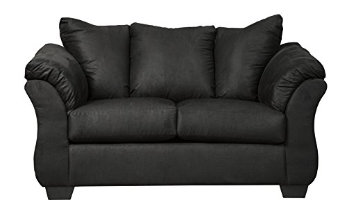 Signature Design By Ashley Darcy Contemporary Loveseat Black
