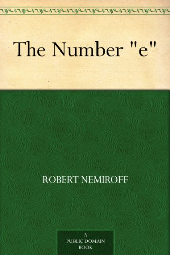 """The Number """"e"""""""