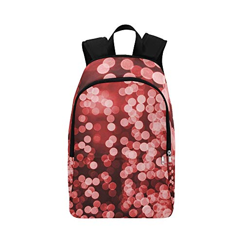 YUMOING Bokeh Red Bokeh Effect Lights Christmas Casual Daypack Travel Bag College School Backpack For Mens And Women (Neon Shield Wall)