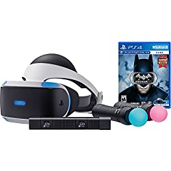Sony PlayStation VR Batman Starter Bundle 4 items: VR,motion, camera and vr game disc- batman Arkham VR - PlayStation4