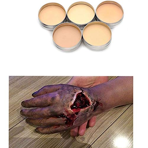 Halloween Scary Creepy Props, Elevin(TM) Hot Halloween Fancy Dress Fake Scar Wound Skin Wax Body Face Painting Make up SK (A)