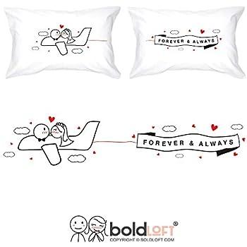 Amazon Com Boldloft Forever And Always Couple Pillowcases