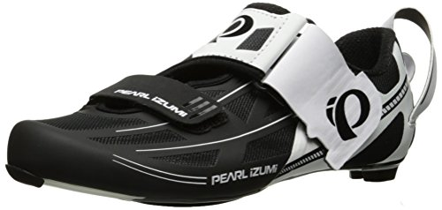 Pearl iZUMi Men's TRI Fly Elite V6 Cycling Shoe White/Black 42 EU/8.5 D US ()