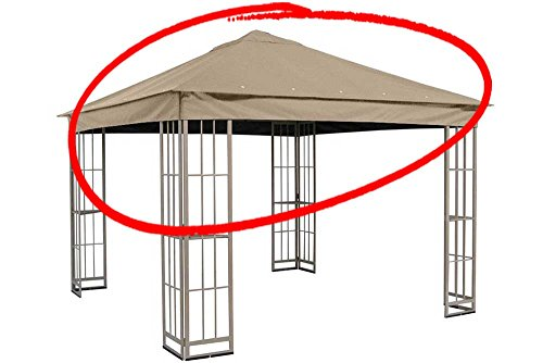Cheap Replacement Canopy for Garden Treasures 10'x10′ Canopy for S-J-109DN in Taupe