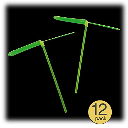 Set of 12 - Glow in the Dark Dragonflies - Helicopter Toy - Glow Party Favors - Glow Party Supplies - Bulk Wholesale Value Pack]()