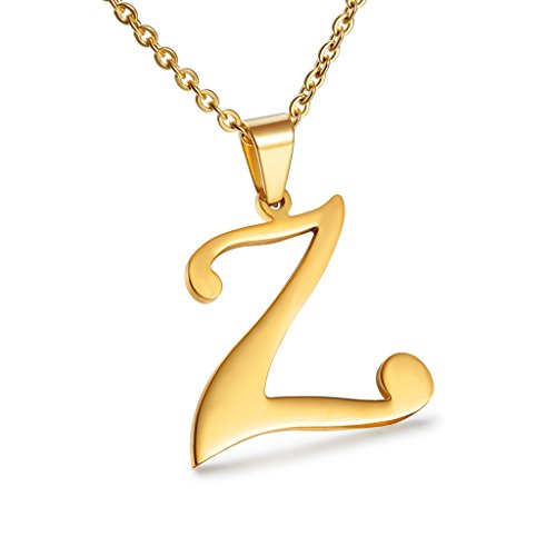 950b09ef3f853 Besteel Womens Mother and Daughter Stainless Steel Alphabet Name Initial  Letters Pendant Necklace Letter Z - Buy Online in Oman.