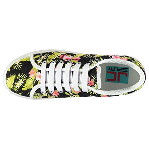 Campbell Play Jeffrey Sneakers Womens Shoes Floral Trainers Platform Black zOMG O1q5dwxpq