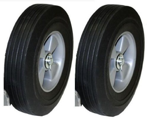 Set-of-2-Hand-Truck-Tires-Semi-Pneumatic-10-x-2-34-Wheel-with-58-ID