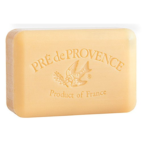 Bridal Shower Candle Basket - Pre de Provence Sandalwood Shea Butter Enriched Soap, 250 Gram