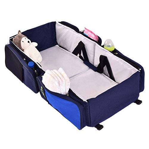3 in 1 Portable Infant Baby Bassinet Diaper Bag by Apontus