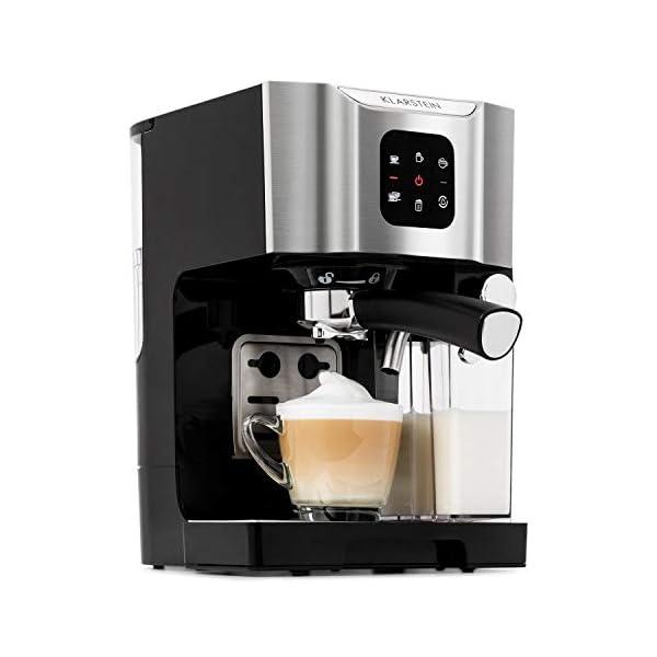 4 Tazza Caffè Espresso A VAPORE CAPPUCCINO LATTE MACCHIATO Coffee Maker macchina in acciaio inox nero